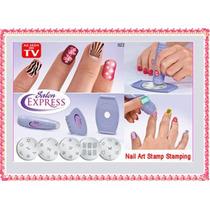 Salon Expres Nail Stamping Decoracion Uñas Discos Sello Ydni