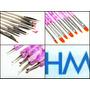 Kit 19 Pinceles Nail Art Dotting Lengua De Gato Deco Uñas