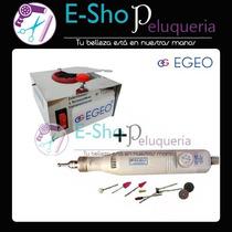 Combo Torno Profesional De Mano Egeo Driller + Esterilizador