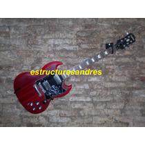 Soporte Exhibidor De Guitarra Bajo De Pared
