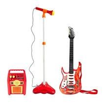 Guitarra Con Microfono Amplificador Rock Conecta Mp3 Karaoke