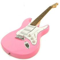 Guitarra Electrica P/niño Anderson Color Rosa Solo Guitarra
