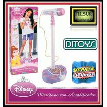 Microfono De Pie Karaoke Disney Princesas - El De La Tv !
