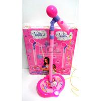 Micrófono Violetta Karaoke Regulable Altura Volumen Mp3 Luz!
