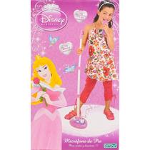 Microfono De Pie Karaoke Disney Princesas Original Tv.