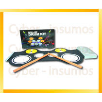 Kit Bateria Para Niños De Silicona Antiderrame 220v