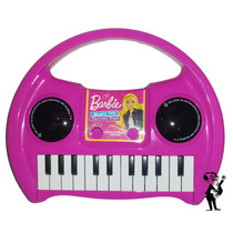 Organo Piano De Barbie De Juguete Con Luz Y Sonido A Pilas