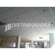 Placa Cielorraso Desmontable Eps Simil Placa De Yeso 61x61