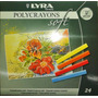 Para Mama! Pastel A La Tiza Lyra Polycrayons 24 Colores