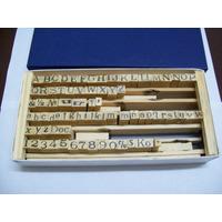 Sellos Abecedarios Con Tipografia Maquina De Escribir 7mm