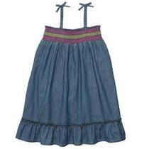 Vestidito De Jean Importados Para Nena - Talle 12m