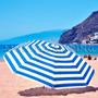 Sombrilla Playera Playa Reforzada Premium Reclinable 200 Cm