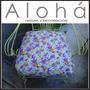 Almohadon Flores Sillones Hierro Jardin-juego, Mesa-alohá