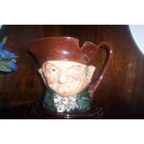 Muy Antigua Y Rara Jarra Musical Royal Doulton Old Charley
