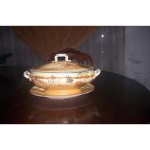 Antiquisima Sopera Con Bandeja Royal Doulton Serie Cocheros