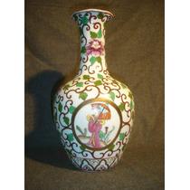 Sobrio Jarron Porcelana Oriental Sellado (0154)