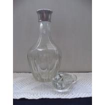 Botellon En Cristal Tallado ,impecable!!!