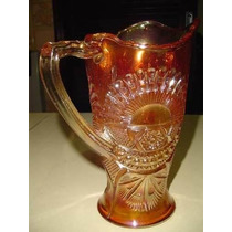 M.a. - Fina Jarra Carnival Glass Irisdicente Exc. Estado