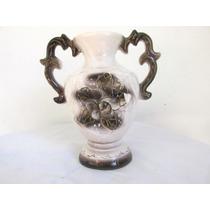 Antiguo Jarron De Porcelana Pintado A Mano Unico