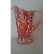 Gran Jarra Cristal Bohemia Art Nouveau Carnival Glass