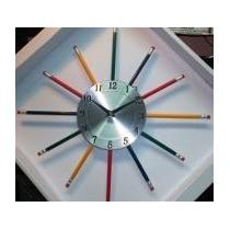 Reloj Niños Lapices Escuelas Jardines#