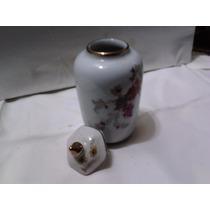 Antiguo Jarroncito Con Tapa De Porcelana Tsuji Alt13 Cm