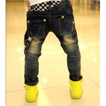 Pantalon Importado Usa Con Cadena Bordados Tale 5 6 Años