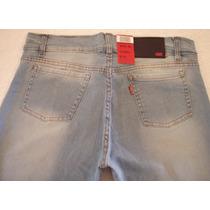 Jeans Levis Dama Celeste C/desgastes - Elastizados Y Chupín
