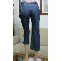 Clara Ibarguren Pantalon Pescador Talle 1 Jeans Elastizado