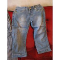 Lote X 2: Pantalon Capri, Y Pantalon Largo Talle 14, Jeans,