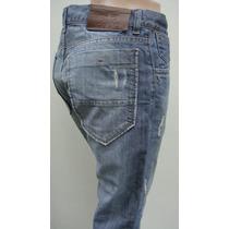 Kosiuko Pantalon T38 Jean Semi-elastizado Azul Cintura 80cm