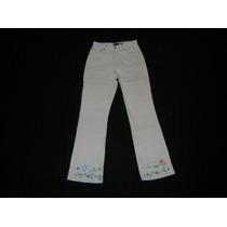 Pantalon Jean Gap Con Flores Bordadas Talle 24 (14)