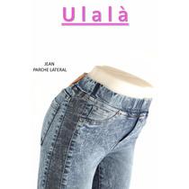 Jeans Chupin Con Parche -envío Gratuito-