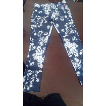 Jean Floreado Leggins Talle 36 Sin Bolsillo Atrás Impecable