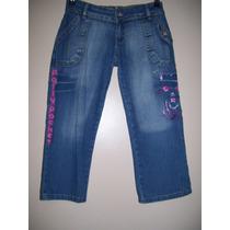 Pantalón Niña Talle 12 Años Jeans Elastizado Marca Polly
