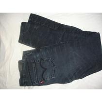 Pantalon Levis Niñas Talle 10 Regular Elastizado De Canasto