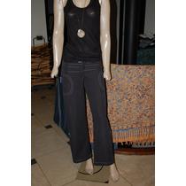 47 Street Pantalon De Tela Informal Color Negro Talle 24