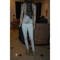Ossira Pantalon De Jean Blanco Talle 28 Promo