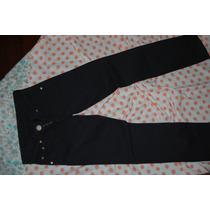 Ossira Pantalon De Jean Negro Tiro Bajo