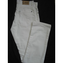 Pantalon Lee Dean Zip Blanco 100% Original Super Rebajados!!