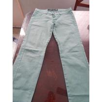 Jean Color Verde Elastizado, Talle 36