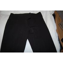 Pantalon De Vestir Elastizado Color Negro
