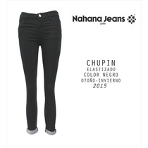 Jean Color Negro Nahana (original) - Talle 34 (s) ¡nuevo!