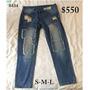 Pantalon De Jean Desgastados Con Parches Y Roturas/envios