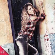 Jeans Chupín Localizado Tiro Medio - Xoara Jeans