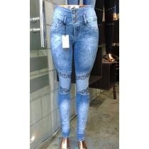 Jeans Nina Cintura Ancha Parche X Mayor 5 Prendas $ 1400
