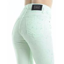 Jean Batic De Colores (verde Y Naranja) Alpha Y Omega Jeans