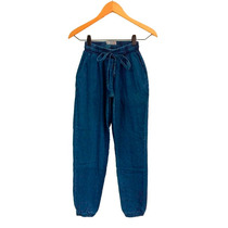 Clippate Babucha Pantalón Jean Denim Jean Mujer Elastizado