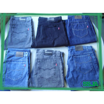 Pack 6 Jeans Clasicos Hombres X Mayor Talles 40 Al 58
