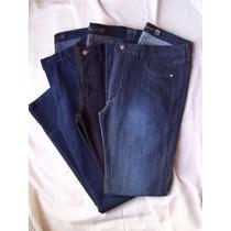 Jeans Elastizados Mujer Tiro Medio, Recto O Chupìn